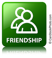 Friendship (group icon) green square button