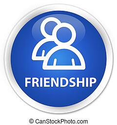 Friendship (group icon) premium blue round button