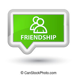 Friendship (group icon) prime soft green banner button