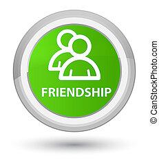 Friendship (group icon) prime soft green round button