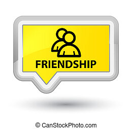 Friendship (group icon) prime yellow banner button