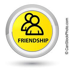 Friendship (group icon) prime yellow round button