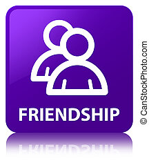 Friendship (group icon) purple square button