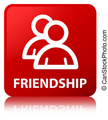 Friendship (group icon) red square button