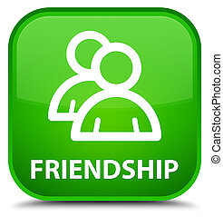 Friendship (group icon) special green square button
