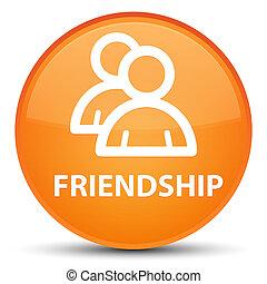 Friendship (group icon) special orange round button