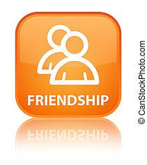 Friendship (group icon) special orange square button