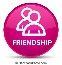 Friendship (group icon) special pink round button