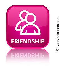 Friendship (group icon) special pink square button