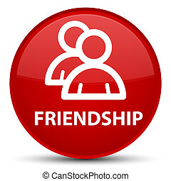 Friendship (group icon) special red round button