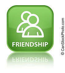 Friendship (group icon) special soft green square button