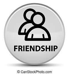 Friendship (group icon) special white round button