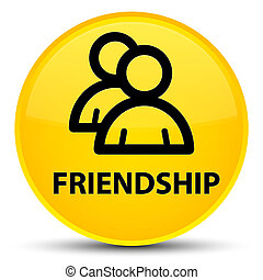 Friendship (group icon) special yellow round button