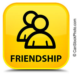 Friendship (group icon) special yellow square button