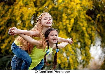 friendship kids at sommer camp