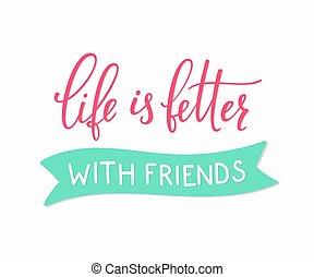 Friendship love lettering - Friendship lettering....