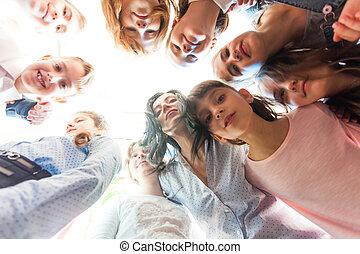 Friendship of children and teacher