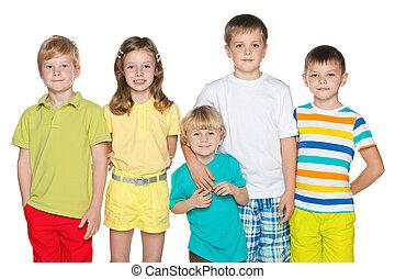 Friendship of five children