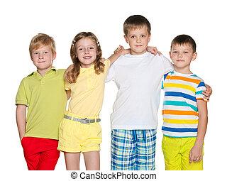 Friendship of four children