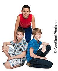 Friendship of three boys
