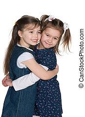 Friendship of two little girls