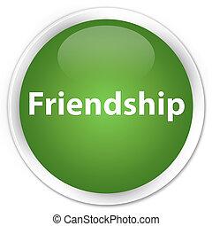 Friendship premium soft green round button