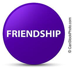 Friendship purple round button