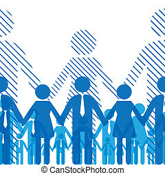 Friendship team - Business seamless gorizontal background...