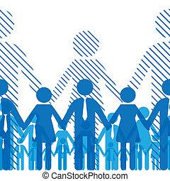 Friendship team - Business seamless gorizontal background ...