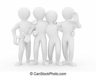 friendship., teamwork., groupe, de, gens.