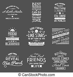 friendship., tipografia, quotes.