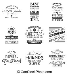 Vector tea quotes and sayings typography set. Vector set of paper ...