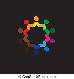 friendship, unity, togetherness of people - concept vector