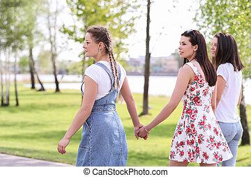 Women in park