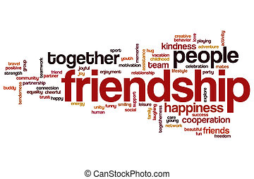 Friendship concept word cloud background