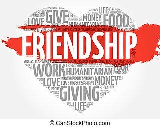 Friendship word cloud