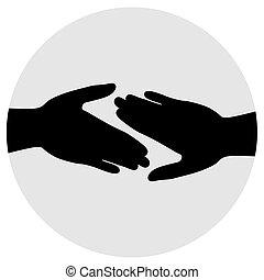 frienship, handen