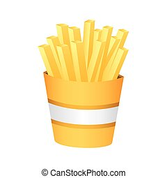 fries french fast food, vector illustration design