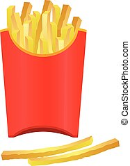 fries in a red box