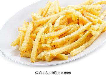 fries potatoes