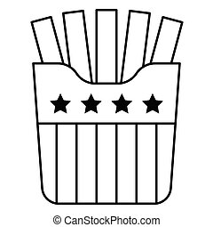 Fries vector, United state independence day related icon