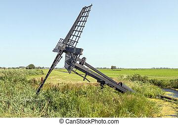 friese,  paaltjasker, Windmühle