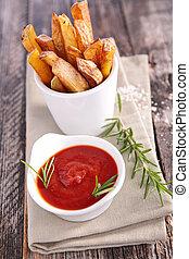 frigge, ketchup, francese