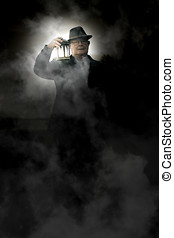 The Graveyard Shift - Frightened And Spooked Senior Man...