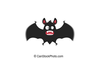 Frightened Bat in Flight Version 1. Motion Graphics....