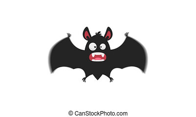 Frightened Bat in Flight Version 2. Motion Graphics....