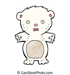frightened polar bear cartoon