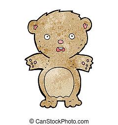 frightened teddy bear cartoon