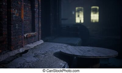 frightening abandoned factory at night