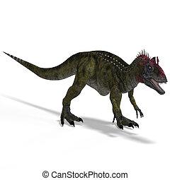 cryolophosaurus - frightening dinosaur cryolophosaurus With...